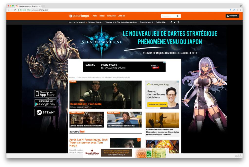 Cygames Shadowverse Website reskin