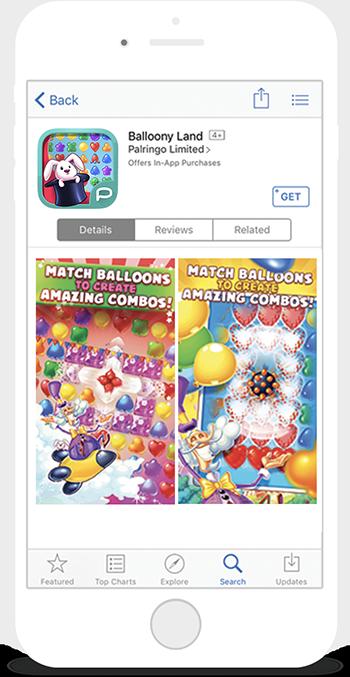 Balloony Land Smartphone